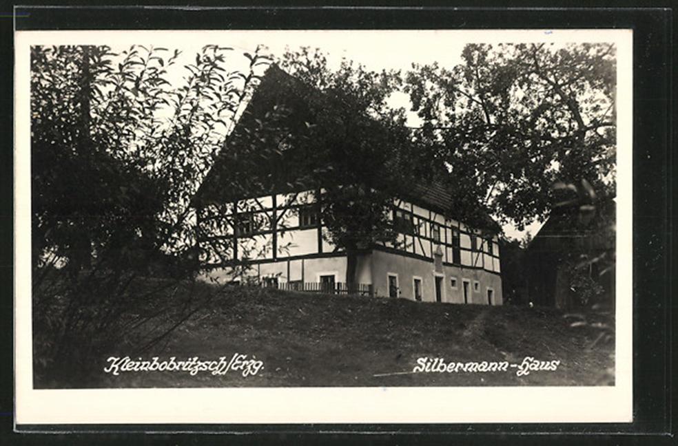 AK Kleinbobritzsch Silbermann-Haus mit Garten