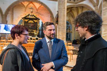 Susann und Martin Dulig mit Albrecht Koch beim Abschlusskonzert im Dom (c) Detlev Müller