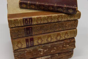 Die sechs Bände des Silbermann-Archivs.