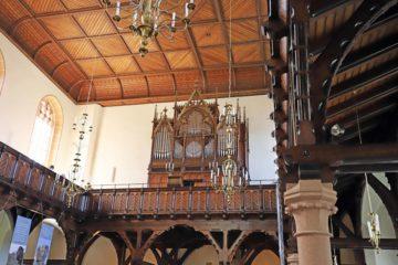 Die Silbermannorgel in der stadtkirche Oederan. Foto: Wieland Josch